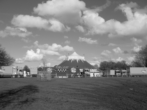 In the early summer a circus came to town and situated itself in Farnham park
