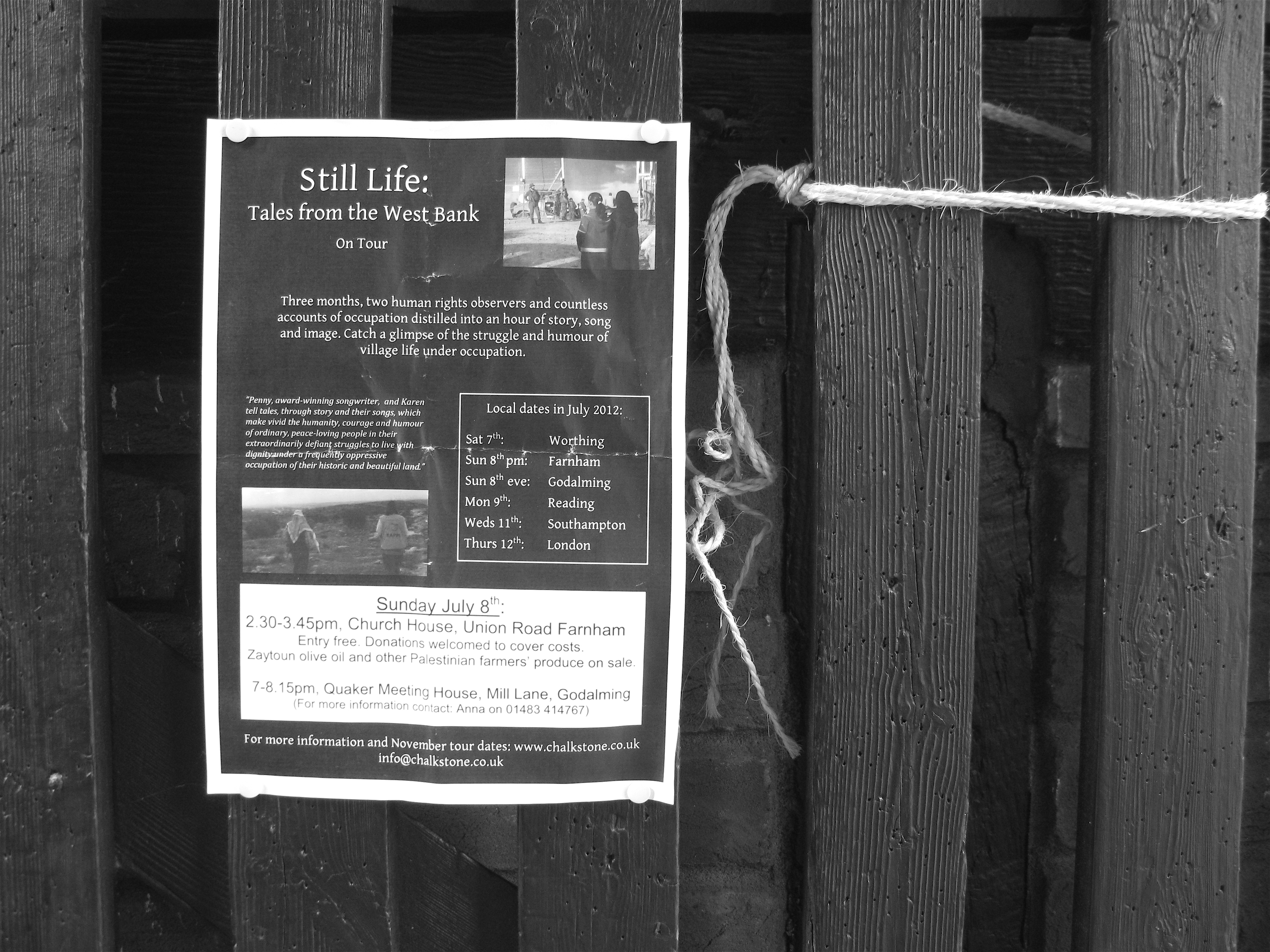 A quiet poster & The small town of Farnham in Surrey: a documentary | Go Ask Alice