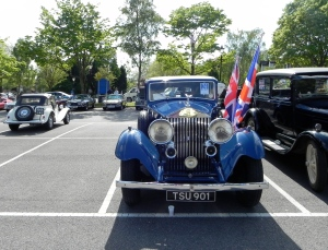 Rolls Royce and Union Jacks, the annual vintage car show