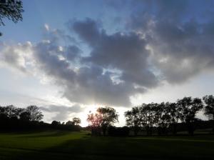 Sunset - and the historic Beavers Hopfields- Summer