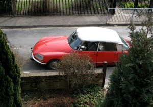 The red citroen