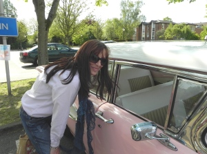 French girl with Cadillac (May in England)