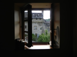 View from a window - with books